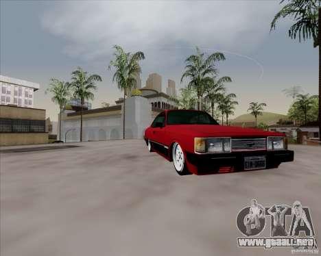 Chevrolet Opala Diplomata 1986 para GTA San Andreas vista hacia atrás