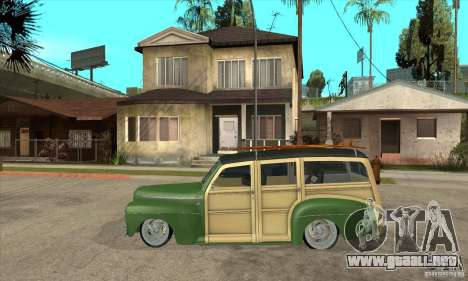 Ford Woody Custom 1946 para GTA San Andreas left