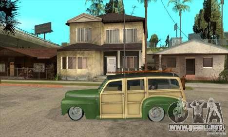 Ford Woody Custom 1946 para GTA San Andreas left