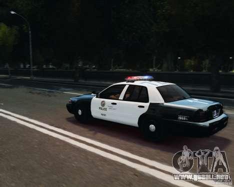 Ford Crown Victoria LAPD para GTA 4 vista lateral