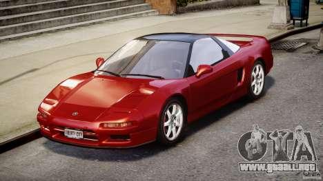 Acura NSX 1991 para GTA 4 visión correcta