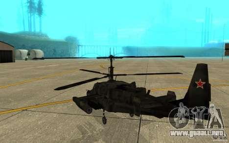 Kamov KA 50 Dlack Shark para la visión correcta GTA San Andreas