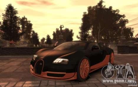 Bugatti Veyron Super Sport 2010 para GTA 4