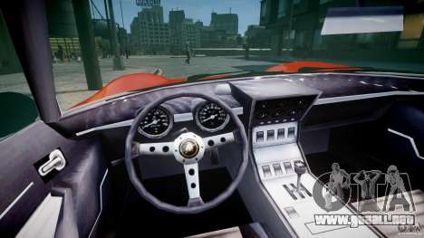 Lamborghini Miura P400 1966 para GTA 4 vista hacia atrás