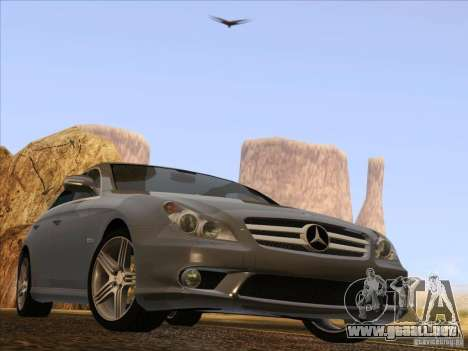 Mercedes-Benz CLS63 AMG para GTA San Andreas vista hacia atrás