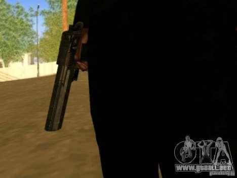 Desert Eagle MW3 para GTA San Andreas sucesivamente de pantalla