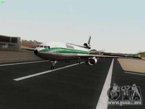 McDonell Douglas DC-10-30 Alitalia para GTA San Andreas vista hacia atrás