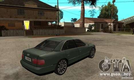 Audi A8 Long 6.0 2000 para la visión correcta GTA San Andreas