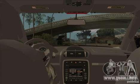 Porsche Cayenne 2010 para visión interna GTA San Andreas