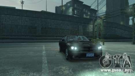 Dodge Charger 2007 SRT8 para GTA 4 vista hacia atrás