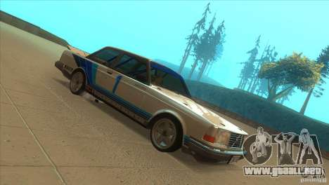 Volvo 240 Turbo Group A para GTA San Andreas vista hacia atrás