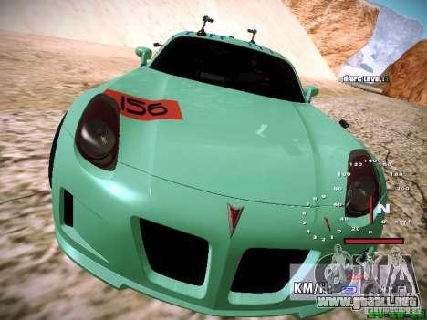 Pontiac Solstice Falken Tire para vista inferior GTA San Andreas