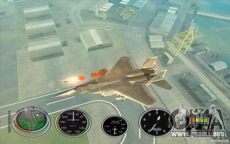 Lanzamiento del cohete rápido a Hydra y Hunter para GTA San Andreas tercera pantalla