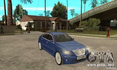 Hyundai Genesis para la visión correcta GTA San Andreas