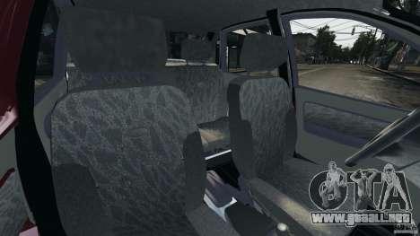1118-Vaz Kalina v1.1 para GTA 4 vista interior