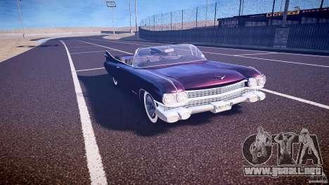 Cadillac Eldorado 1959 interior black para GTA 4 vista interior