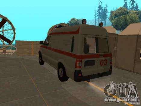Ambulancia UAZ Simba SC para GTA San Andreas left