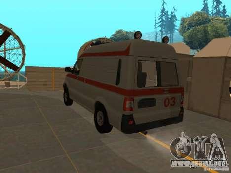 Ambulancia UAZ Simba SC para GTA San Andreas left