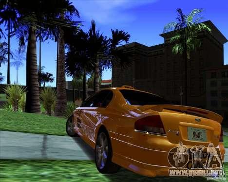 Ford Falcon XR8 Taxi para GTA San Andreas vista posterior izquierda