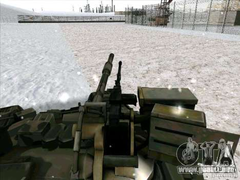 T-90 de Battlefield 3 para GTA San Andreas vista hacia atrás