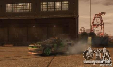 Ford Mustang Monster Energy 2012 para GTA 4 vista lateral