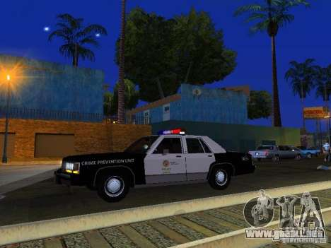 Ford Crown Victoria LTD 1992 LSPD para la vista superior GTA San Andreas