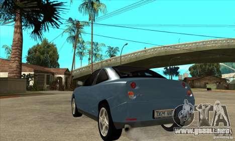 Fiat Coupe - Stock para GTA San Andreas vista posterior izquierda