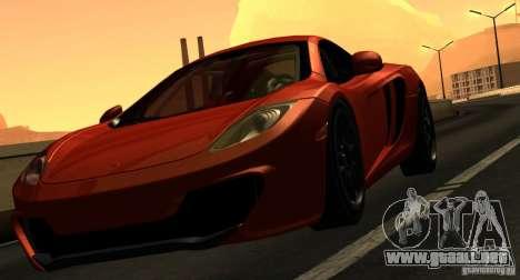 McLaren MP4-12C TT Black Revel para la vista superior GTA San Andreas