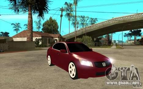 Honda Accord 2008 v2 para GTA San Andreas vista hacia atrás