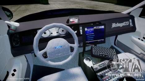 Ford Crown Victoria New York State Patrol [ELS] para GTA 4 vista hacia atrás