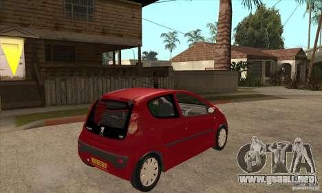 Peugeot 107 para la visión correcta GTA San Andreas