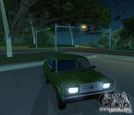 VAZ 2107 permite para GTA San Andreas left