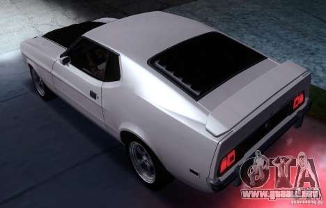 Ford Mustang Mach1 1973 para GTA San Andreas left