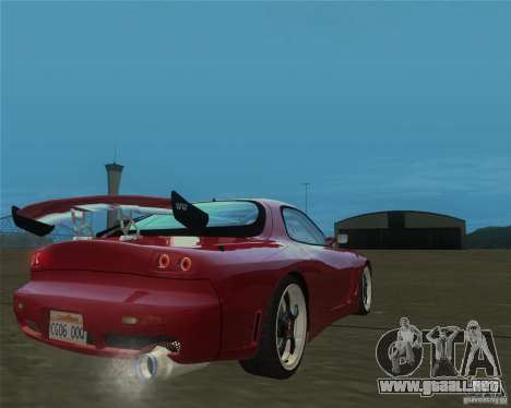 Mazda RX-7 weapon war para GTA San Andreas left