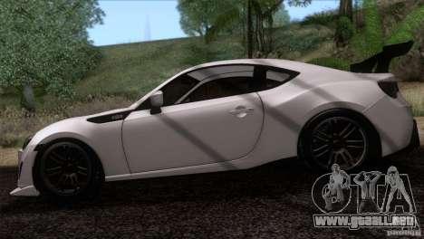 Scion FR-S 2013 para GTA San Andreas vista posterior izquierda