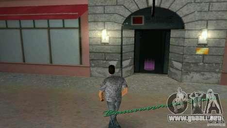 Oportunidad de entrar en el interior para GTA Vice City sucesivamente de pantalla