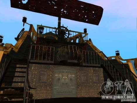 Queen Annes Revenge para GTA San Andreas vista hacia atrás