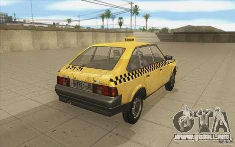 AZLK Moskvich 2141 Taxi v2 para vista lateral GTA San Andreas