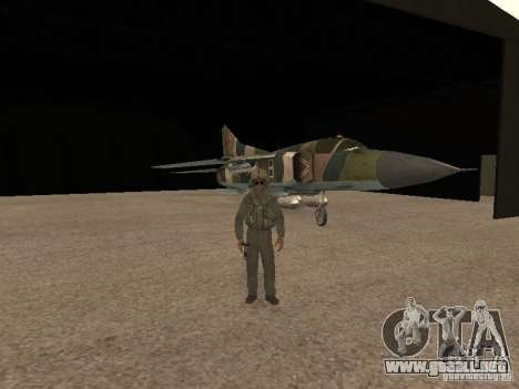 Mikoyan-Gurevich Mig-23 para visión interna GTA San Andreas