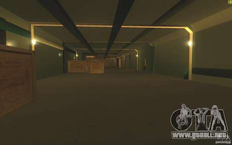 Portaaviones V2 Final para GTA San Andreas sucesivamente de pantalla