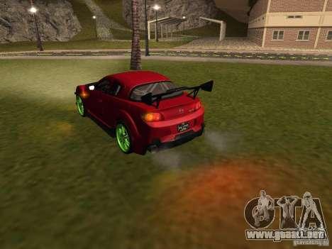 Mazda RX-8 R3 Tuned 2011 para GTA San Andreas interior
