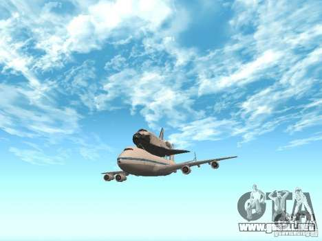 Boeing 747-100 Shuttle Carrier Aircraft para GTA San Andreas left