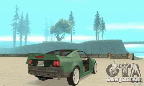 Saleen S281 v2 para vista inferior GTA San Andreas