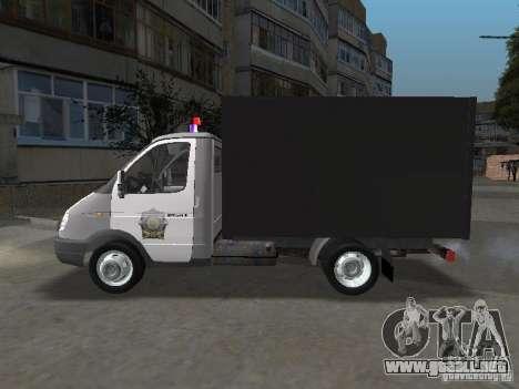 GAZ 3302 policía para GTA San Andreas left