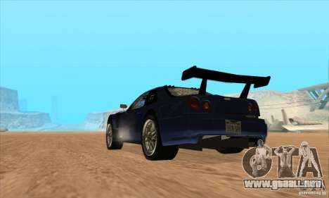 Nissan Skyline R34 GT-R LM para visión interna GTA San Andreas