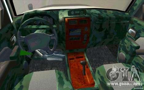 Toyota Land Cruiser Prado para vista inferior GTA San Andreas