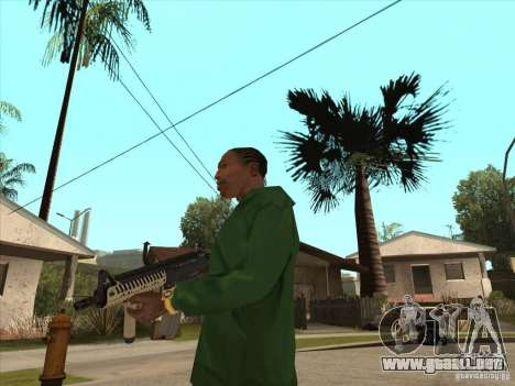 M4 de Call of Duty para GTA San Andreas tercera pantalla