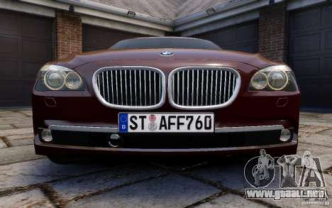BMW 760Li 2011 para GTA 4 vista superior