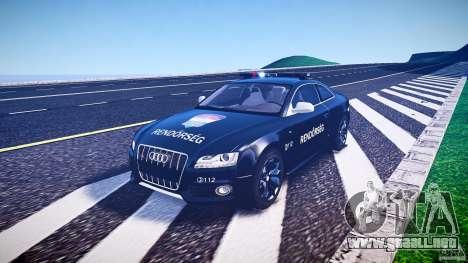 Audi S5 Hungarian Police Car black body para GTA 4 vista interior