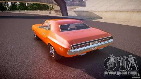 Dodge Challenger v1.0 1970 para GTA 4 Vista posterior izquierda